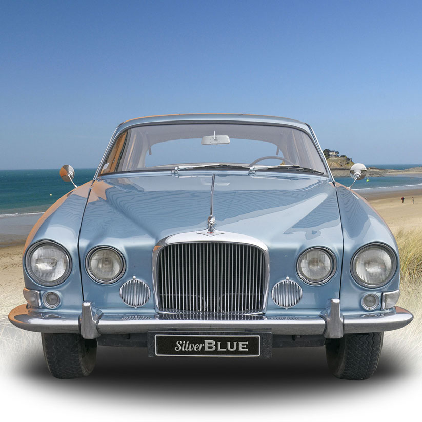 SilverBlue - Jaguar MK10 - Location de voiture de collection à Dinard (Ille et Vilaine)