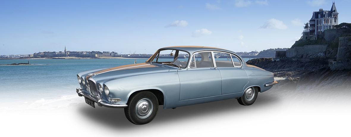 SilverBlue - Jaguar MK10 - Location de voiture de collection à Dinard (Ille et Vilaine)